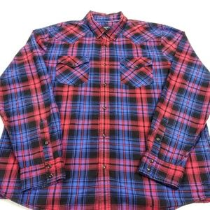 American Eagle Outfitters Plaid Button Down Shirt